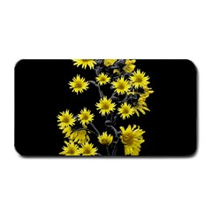 Sunflowers Over Black Medium Bar Mats by dflcprints