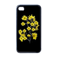 Sunflowers Over Black Apple Iphone 4 Case (black) by dflcprints