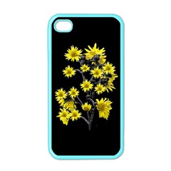 Sunflowers Over Black Apple Iphone 4 Case (color) by dflcprints