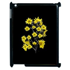 Sunflowers Over Black Apple Ipad 2 Case (black) by dflcprints
