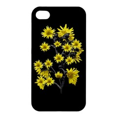 Sunflowers Over Black Apple Iphone 4/4s Hardshell Case by dflcprints