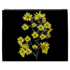 Sunflowers Over Black Cosmetic Bag (xxxl)  by dflcprints