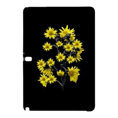 Sunflowers Over Black Samsung Galaxy Tab Pro 10.1 Hardshell Case by dflcprints