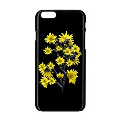 Sunflowers Over Black Apple Iphone 6/6s Black Enamel Case by dflcprints