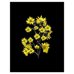 Sunflowers Over Black Drawstring Bag (large) by dflcprints