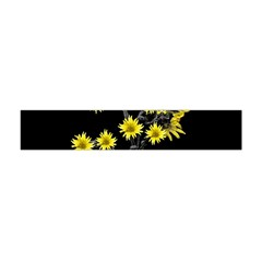 Sunflowers Over Black Flano Scarf (mini) by dflcprintsclothing