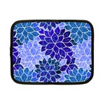 Azurite Blue Flowers Netbook Case (Small)