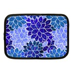 Azurite Blue Flowers Netbook Case (Medium)