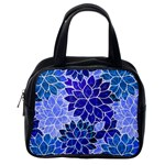Azurite Blue Flowers Classic Handbags (One Side)