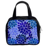 Azurite Blue Flowers Classic Handbags (2 Sides)