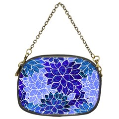 Azurite Blue Flowers Chain Purses (One Side)