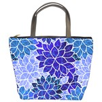Azurite Blue Flowers Bucket Bags