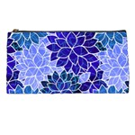 Azurite Blue Flowers Pencil Cases