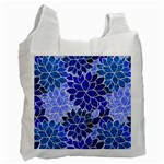 Azurite Blue Flowers Recycle Bag (One Side)