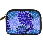 Azurite Blue Flowers Digital Camera Cases