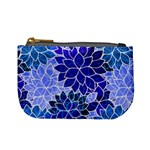 Azurite Blue Flowers Mini Coin Purses