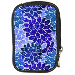 Azurite Blue Flowers Compact Camera Cases by KirstenStar