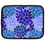 Azurite Blue Flowers Netbook Case (XL)