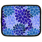 Azurite Blue Flowers Netbook Case (XXL)
