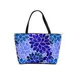 Azurite Blue Flowers Shoulder Handbags