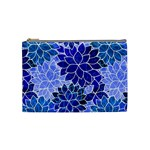 Azurite Blue Flowers Cosmetic Bag (Medium)
