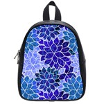 Azurite Blue Flowers School Bags (Small)