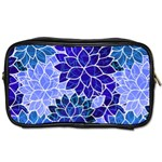 Azurite Blue Flowers Toiletries Bags 2-Side