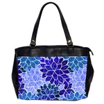 Azurite Blue Flowers Office Handbags (2 Sides)