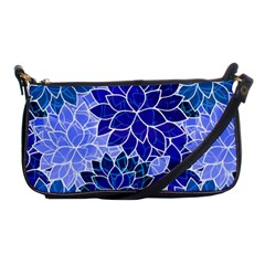 Azurite Blue Flowers Shoulder Clutch Bags by KirstenStar