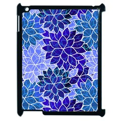 Azurite Blue Flowers Apple Ipad 2 Case (black) by KirstenStar