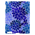 Azurite Blue Flowers Apple iPad 3/4 Hardshell Case