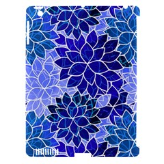 Azurite Blue Flowers Apple iPad 3/4 Hardshell Case (Compatible with Smart Cover)
