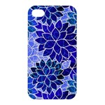 Azurite Blue Flowers Apple iPhone 4/4S Premium Hardshell Case