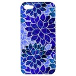 Azurite Blue Flowers Apple iPhone 5 Hardshell Case