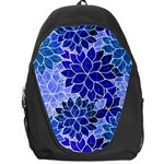 Azurite Blue Flowers Backpack Bag