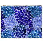 Azurite Blue Flowers Cosmetic Bag (XXXL)