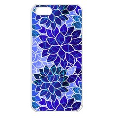 Azurite Blue Flowers Apple Iphone 5 Seamless Case (white) by KirstenStar
