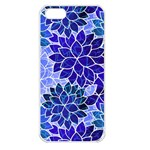 Azurite Blue Flowers Apple iPhone 5 Seamless Case (White)