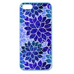 Azurite Blue Flowers Apple Seamless iPhone 5 Case (Color)