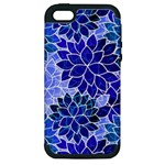 Azurite Blue Flowers Apple iPhone 5 Hardshell Case (PC+Silicone)