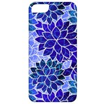 Azurite Blue Flowers Apple iPhone 5 Classic Hardshell Case