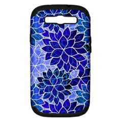 Azurite Blue Flowers Samsung Galaxy S III Hardshell Case (PC+Silicone)