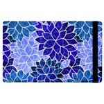 Azurite Blue Flowers Apple iPad 2 Flip Case