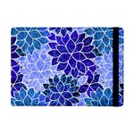 Azurite Blue Flowers Apple iPad Mini Flip Case