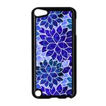 Azurite Blue Flowers Apple iPod Touch 5 Case (Black)