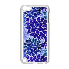 Azurite Blue Flowers Apple Ipod Touch 5 Case (white) by KirstenStar