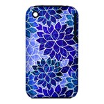 Azurite Blue Flowers Apple iPhone 3G/3GS Hardshell Case (PC+Silicone)