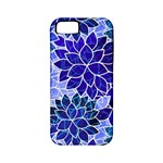 Azurite Blue Flowers Apple iPhone 5 Classic Hardshell Case (PC+Silicone)