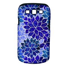 Azurite Blue Flowers Samsung Galaxy S III Classic Hardshell Case (PC+Silicone)