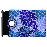 Azurite Blue Flowers Apple iPad 2 Flip 360 Case